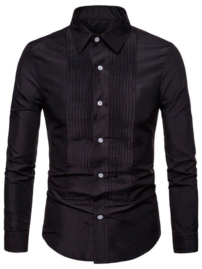 Buy Men Leisure Comfortable Slim Long Sleeve Shirt
