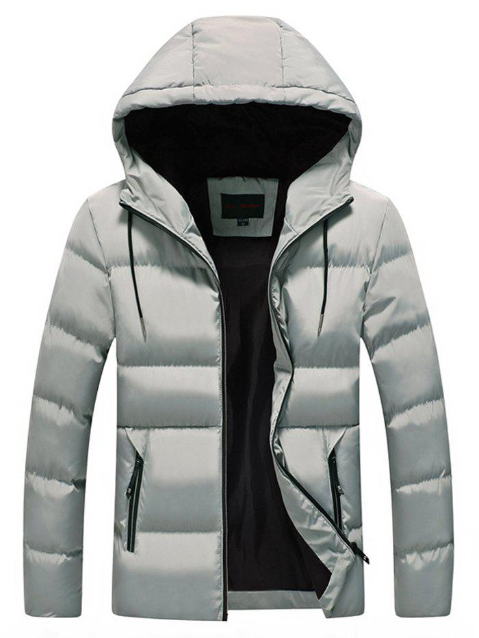 Fancy Men Leisure Comfortable Warm Hooded Zipper Down Coat
