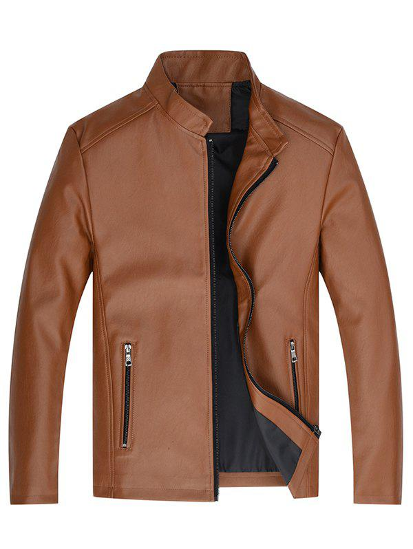 Online Men Classic Stand Collar Wearable Stylish Jacket