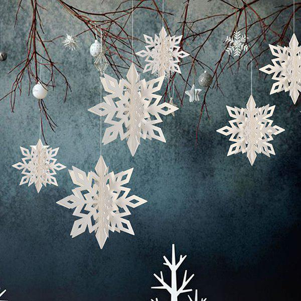 Store New Year Christmas Party Snowflake Decoration  6pcs