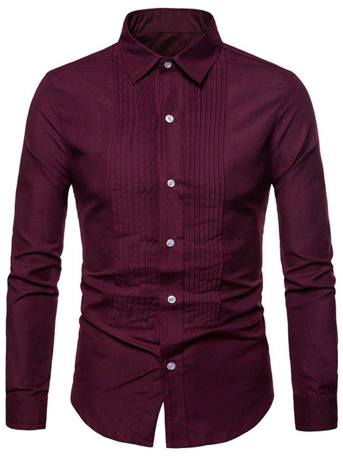 Outfit Men Leisure Comfortable Slim Long Sleeve Shirt