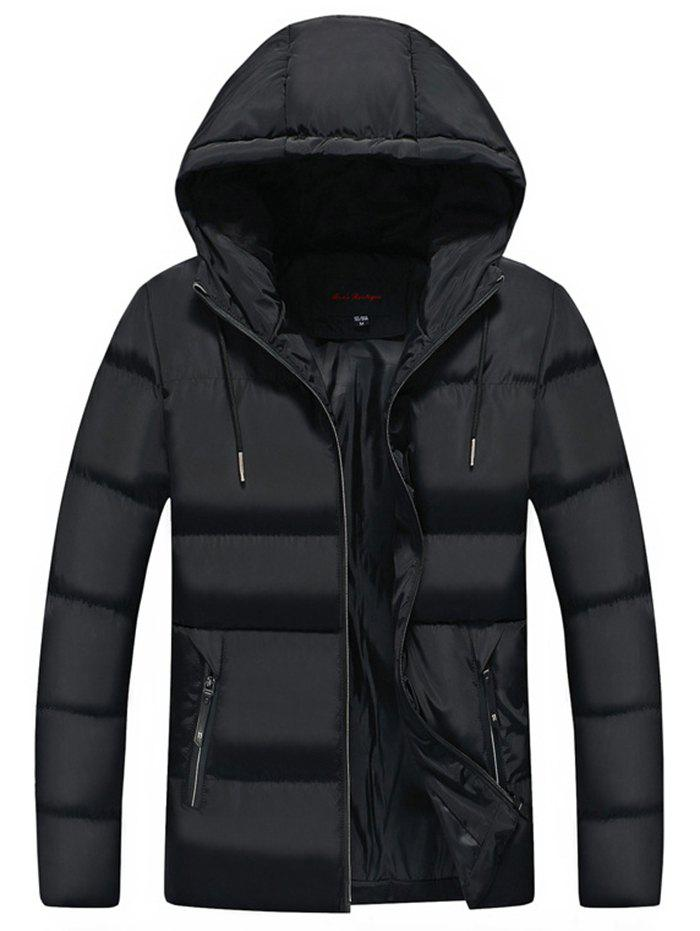 Unique Men Leisure Comfortable Warm Hooded Zipper Down Coat