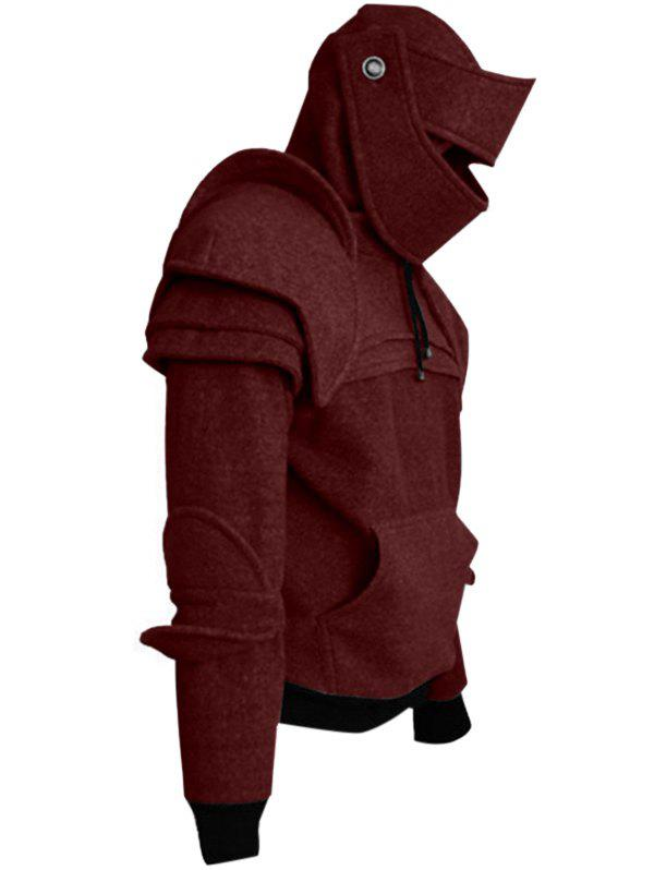Fashion Solid Color Men's Retro Drawstring Knight Sweater