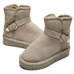 Female Non-slip Thick-soled Warm Cotton Snow Boots -