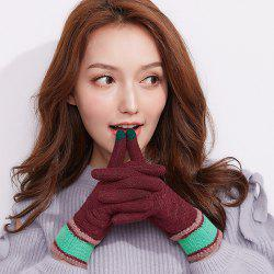 Winter Outdoor Touch Screen Ladies Knitting Gloves -