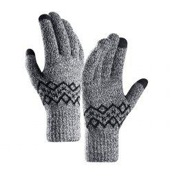Warm Touch Screen Male Thickening Gloves for Autumn and Winter -