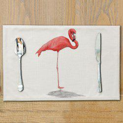 Flamingo Cotton Meal Pads Dish Western Anti-scalding Table Mats -