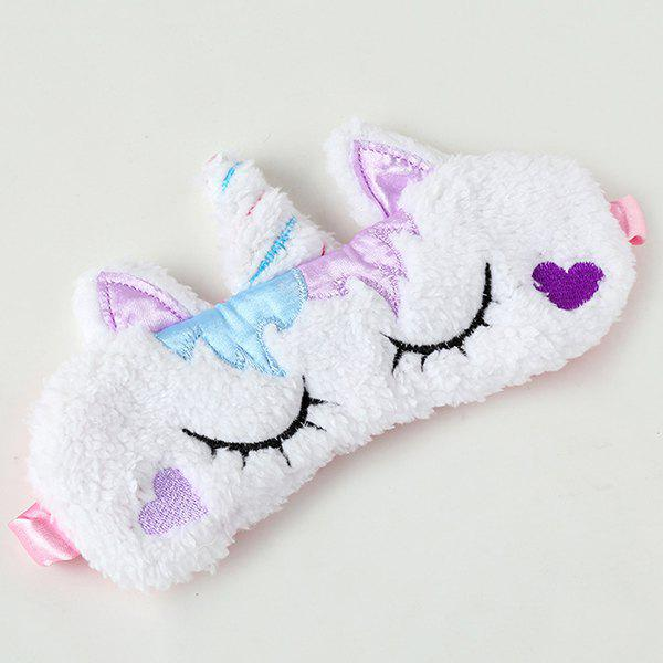 Fancy Dream Unicorn Plush Gold Horn Cute Sleep Eye Mask