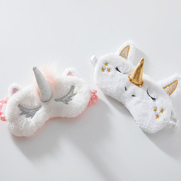 Affordable Dream Unicorn Plush Gold Horn Cute Sleep Eye Mask