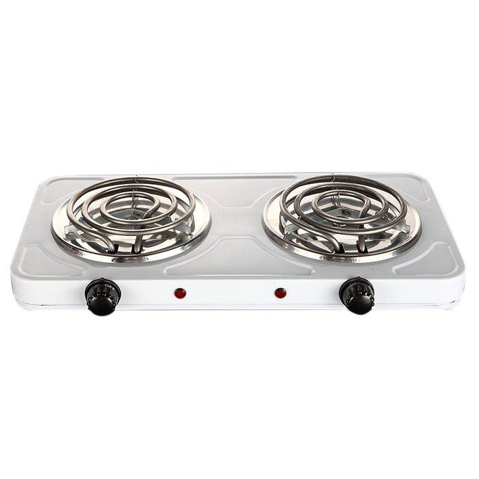 Mosquito Tube Electric Stove Double Oven Double Tube Double Head Electric Furnace 2000W Gray