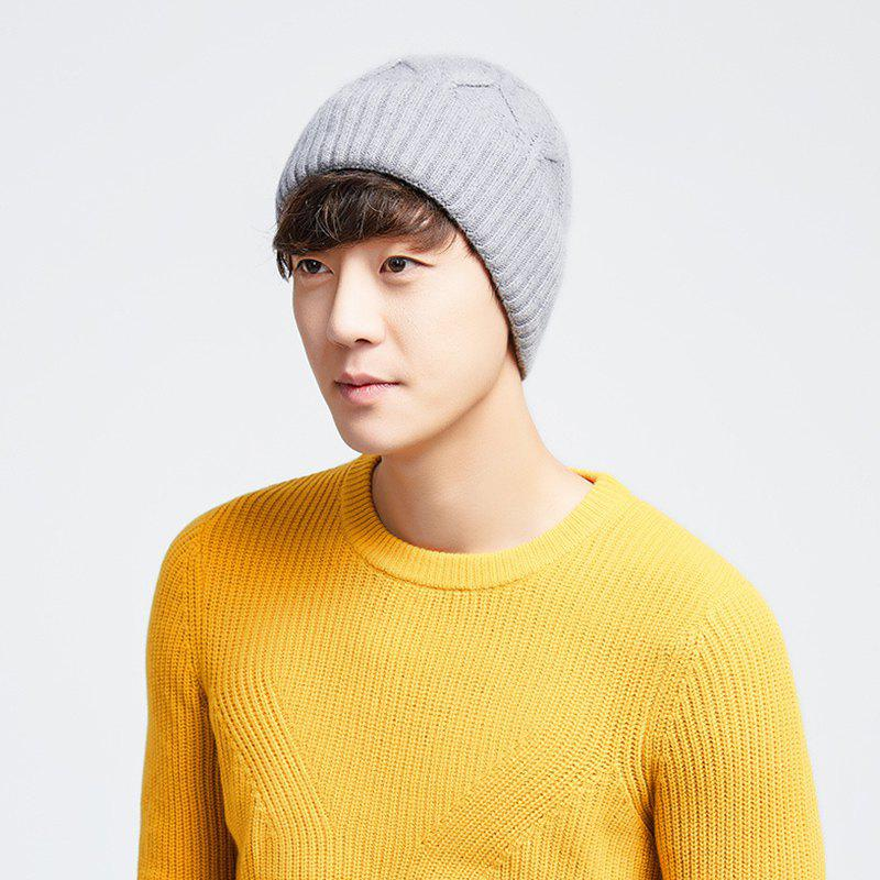 c66306b3c1b Trendy Men s Couples Winter Warm Knit Wool Hat Thick Cap with Ear Protectors