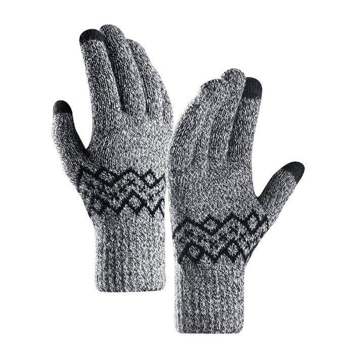 Buy Warm Touch Screen Male Thickening Gloves for Autumn and Winter