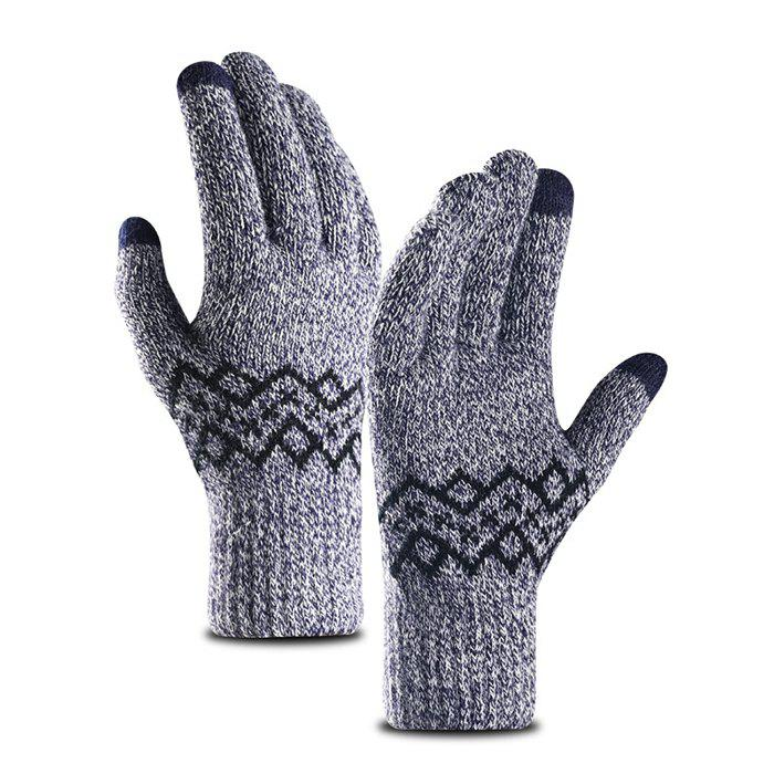 Fashion Warm Touch Screen Male Thickening Gloves for Autumn and Winter