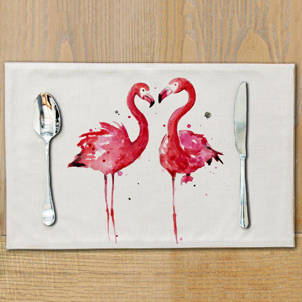 Flamingo Cotton Meal Pads Dish Western Anti scalding Table Mats