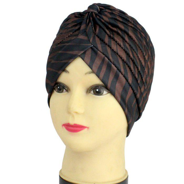 Shops Adult Zebra Striped Hat