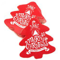 Christmas Baking Card Tag 100pcs -