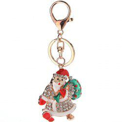 Creative Cute Cartoon Skates Christmas Keychain -