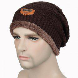 Fashion Warm Velvet Cotton Knitted Outdoor Pullover Hat -
