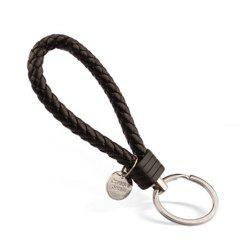 Woven Leather Rope Keychain Creative Hand-made Gift -