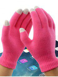Acrylic Fiber Washable Conductive Material Winter Wool Touch Screen Gloves -