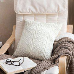 Home Soft Assembly Coarse Knitted Pillowcase -