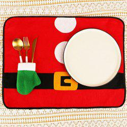 Tableware Mat Christmas Knife Fork Hotel Desktop Decoration Non-woven Placemat -