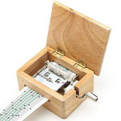 15 Tone DIY Hand-cranked Music Box with Hole Puncher and Paper Tapes -