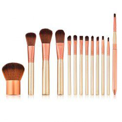 T - 13 - 014 Pinceau De Maquillage 13pcs - Or de Rose