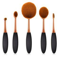 T - 5 - 058 / 060 Small Round Head Makeup Brush 5pcs -