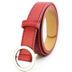 Non-porous Round Buckle Ladies Simple Wild Retro Pants Belt -