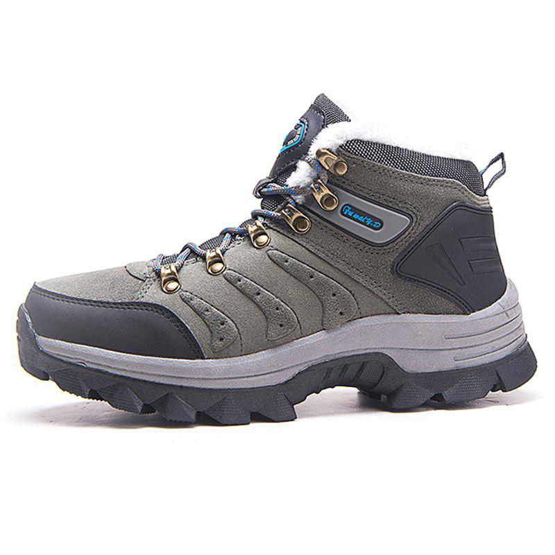 Discount Men Brushed Warmth Skid-resistant Climbing Boots