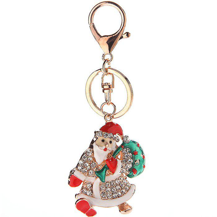 Fancy Creative Cute Cartoon Skates Christmas Keychain
