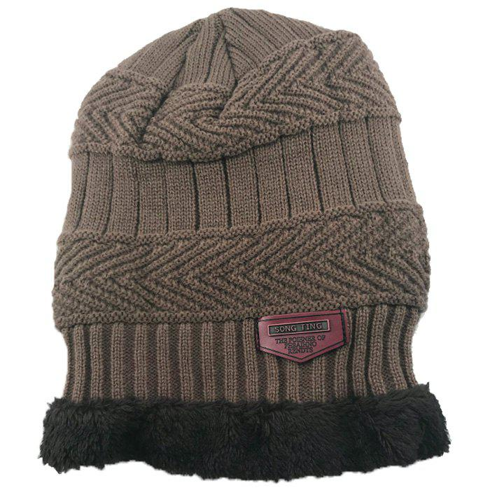 Outfit Fashion Warm Velvet Cotton Knitted Outdoor Pullover Hat