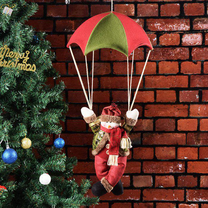 Buy Christmas Tree Pendant Old Man Snowman Parachute Doll Crafts Ornaments Holiday Decoration
