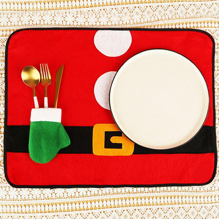 Trendy Tableware Mat Christmas Knife Fork Hotel Desktop Decoration Non-woven Placemat