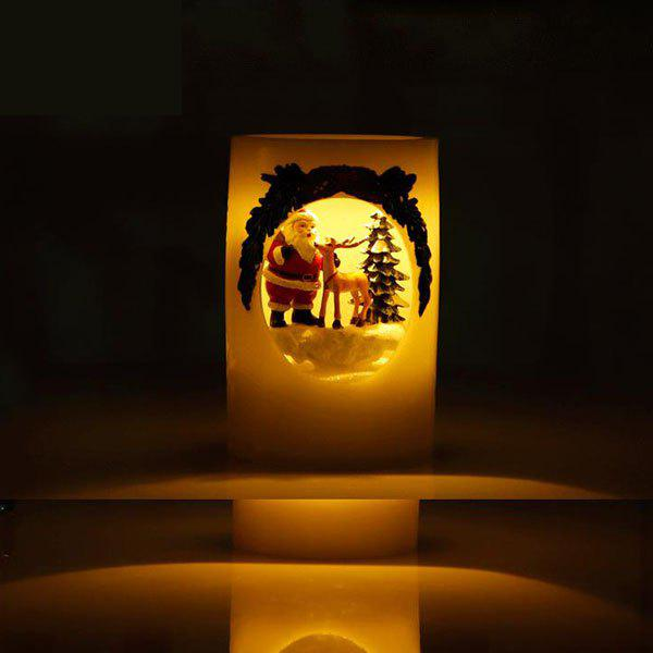 Hot Christmas Cylindrical Hand-painted LED Candle Light