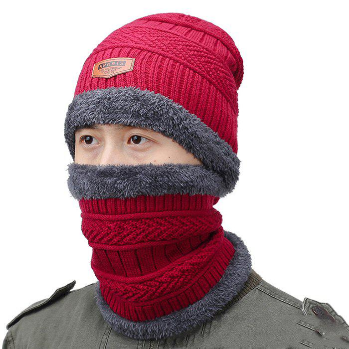 84f2b1b0995c1 Online Autumn and Winter Wool Knit Hat Scarf Two-piece Set
