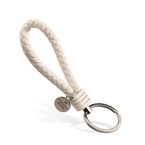 New Woven Leather Rope Keychain Creative Hand-woven Creative Gift