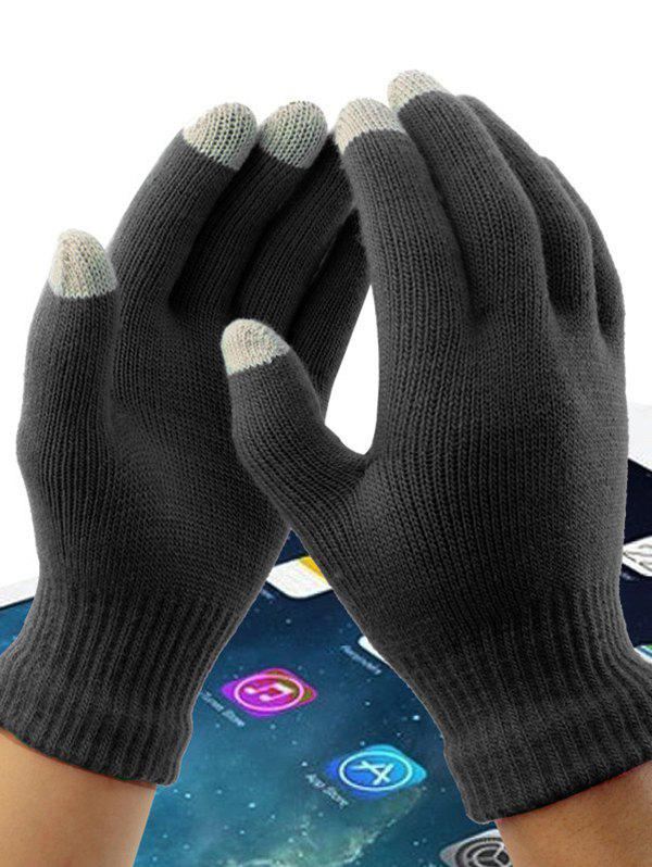 Outfit Acrylic Fiber Washable Conductive Material Winter Wool Touch Screen Gloves