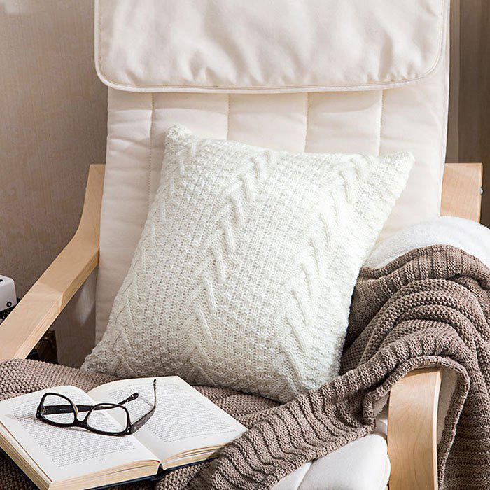 Latest Home Soft Assembly Coarse Knitted Pillowcase