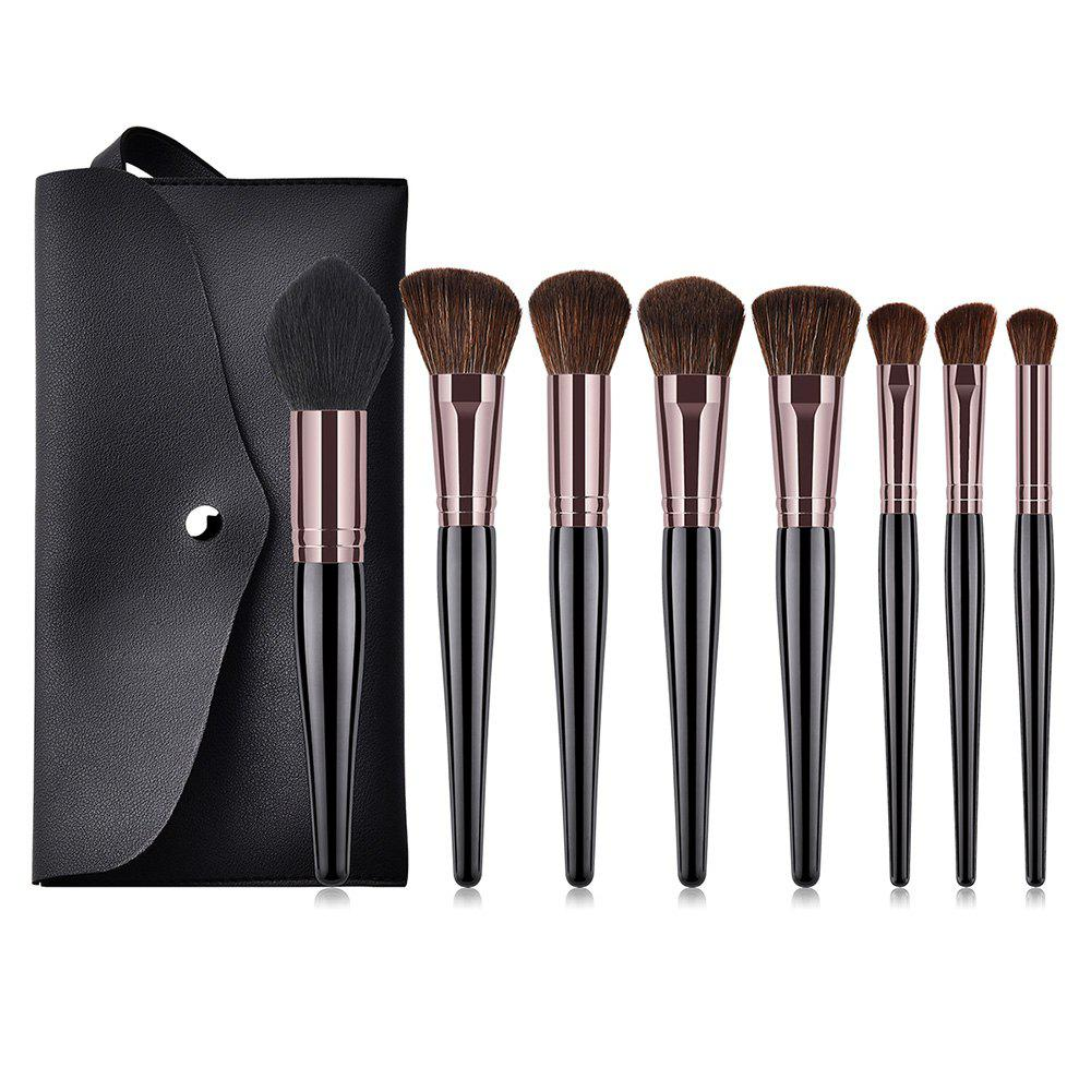 c42d376ab186 449242 Pregnant Belly High End Match Wool Makeup Brush with Bag 8pcs