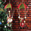 Christmas Tree Pendant Old Man Snowman Parachute Doll Crafts Ornaments Holiday Decoration -