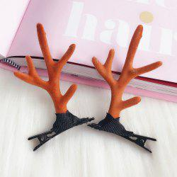 Female Small Antler Decorative Side Clip 2pcs -