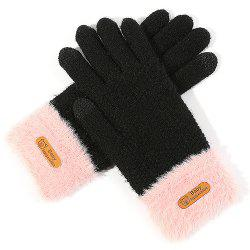 Ladies Winter Outdoor Knit Wool Touch Screen Gloves -