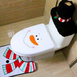 Christmas Decoration Toilet Mat 3pcs -