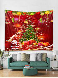 Father Christmas Tree Design Tapestry Art Decoration -