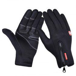 Touch Screen PU Waterproof Zipper Gloves -