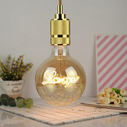 G125 Love 4W Edison Bulb LED Soft Flexible Filament Energy Saving Decorative Antique Lamp Light Source -