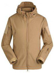 Trendy Veste Soft Shell respirante et imperméable - Marron Camel S