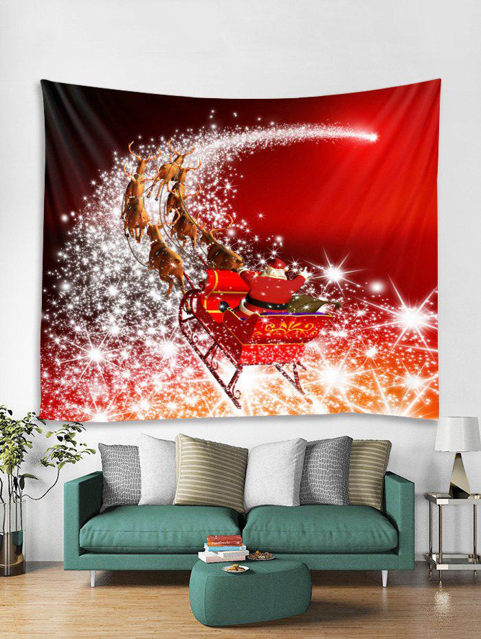Affordable Father Christmas Deer Print Tapestry Art Decoration